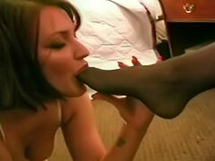 Free FootDom galleries - femdom foot dominatrix will crush your balls, stomp your face and then you will lick her dirty feet clean!