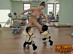 Tube porn ballbusting conversation Mistress Talula loves to train with two small freaks in the gym. She uses them to indulge her wishes.